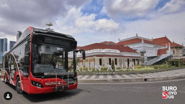 Pemandangan yang dilalui Bus Suroboyo