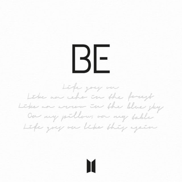 Cover album BE - BTS by Twitter