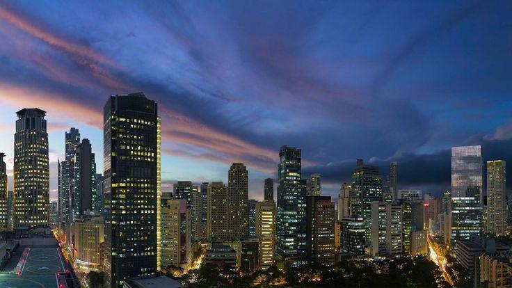Malam Hari di metro Manila