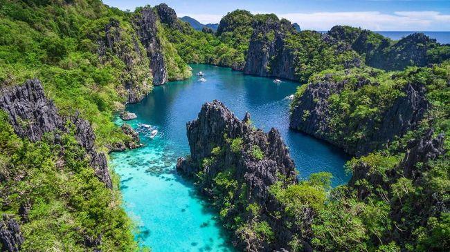 Pemandangan pulau Palawan di Filipina
