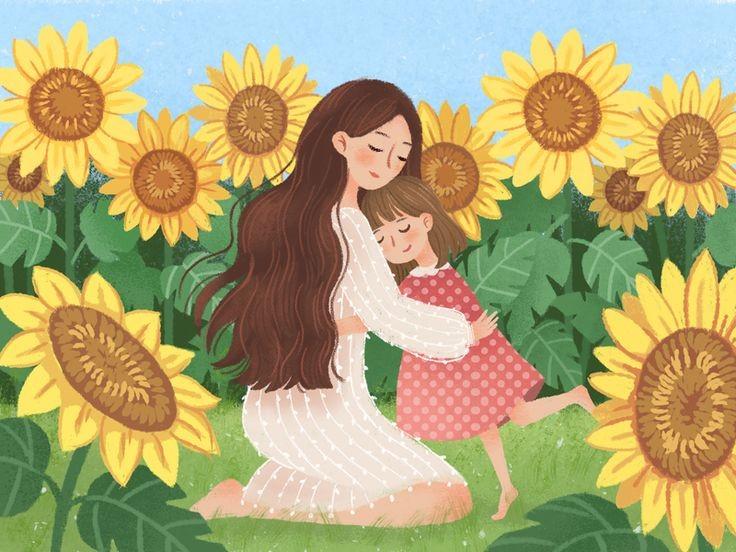 Menggambarkan kelekatan seorang ibu dan anaknya.
