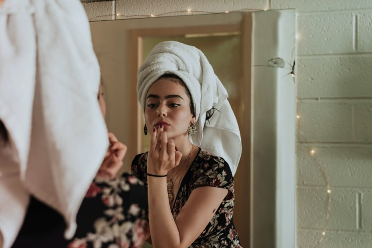 Woman and Skincare by kevin laminto