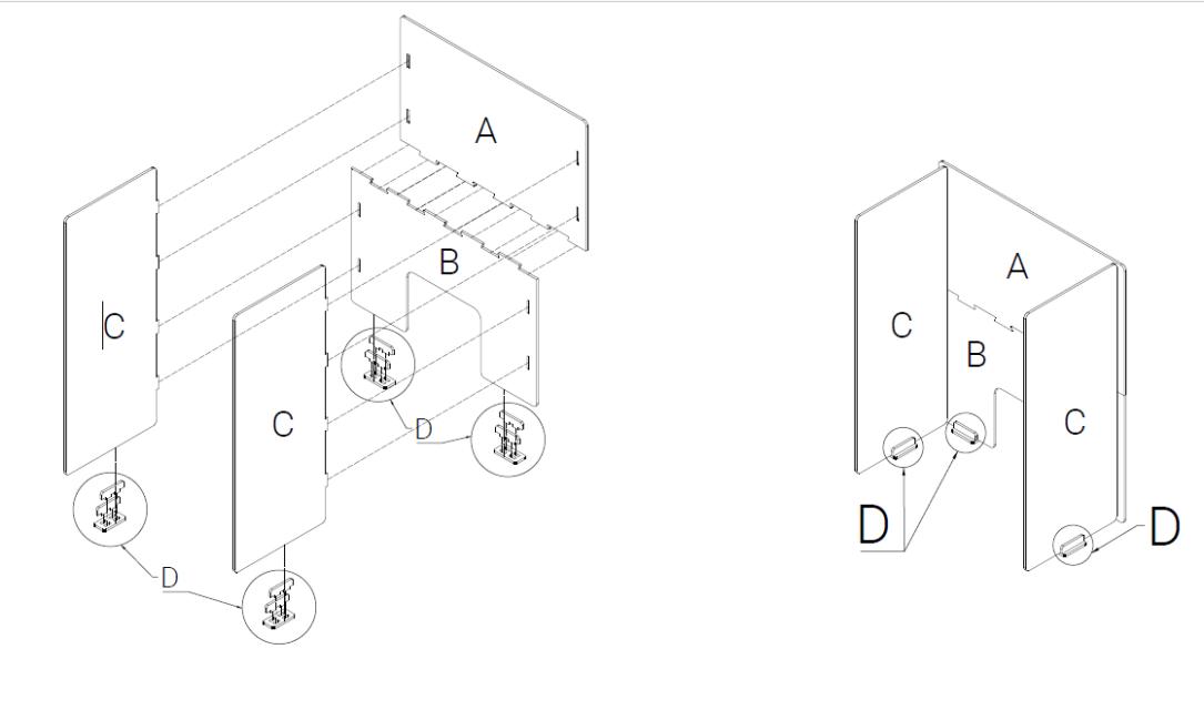 Cara Pemasangan Pembatas Akrilik Sistem Puzzle