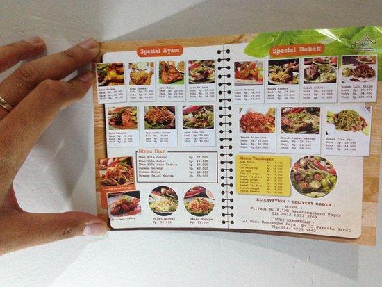 Beragam menu-menu cafe