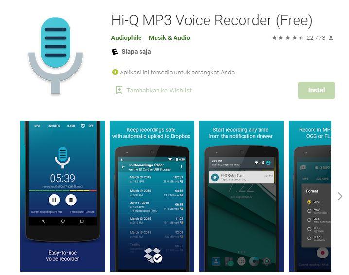 aplikasi perekam suara untuk youtuber