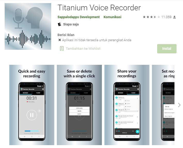 aplikasi perekam suara terbaik