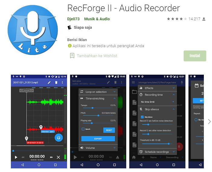 aplikasi perekam suara untuk cover lagu