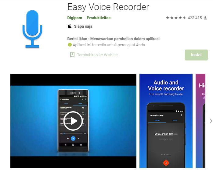aplikasi perekam suara dubbing