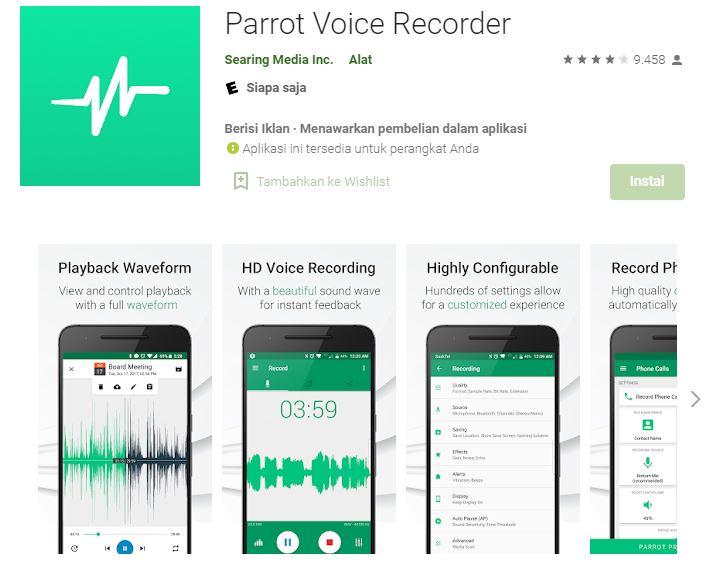 aplikasi perekam suara panggilan telepon