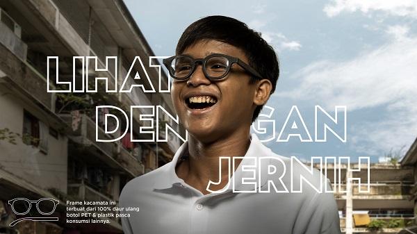 kacamata daur ulang #LihatDenganJernih aman digunakan