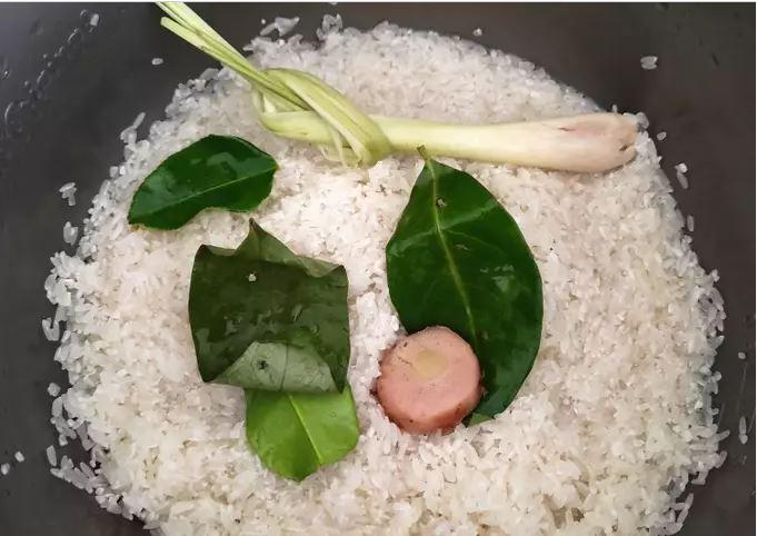 cara membuat nasi uduk enak dengan rice cooker