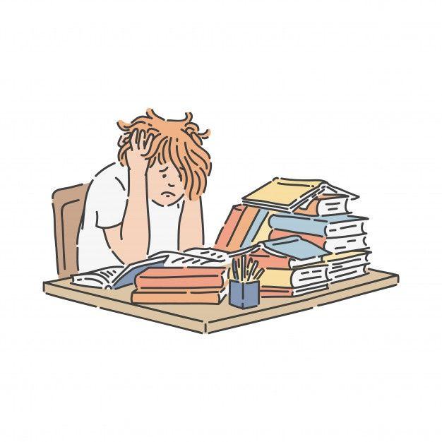 stressed student