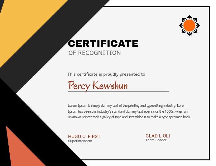 E-Certificate