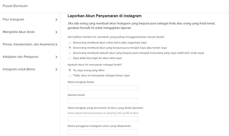 Cara menghapus akun Instagram yang tidak bisa dibuka lagi