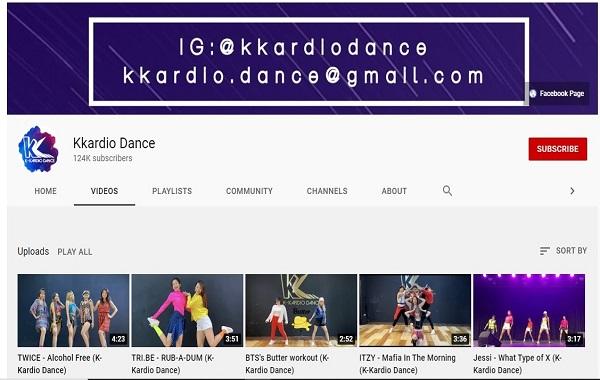 Kanal YouTube Kkardio Dance