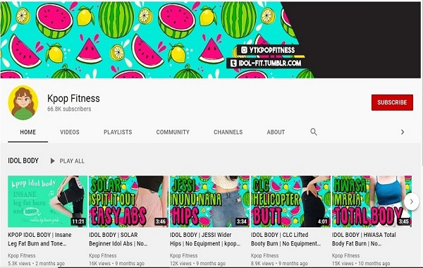 Kanal YouTube Kpop Fitness