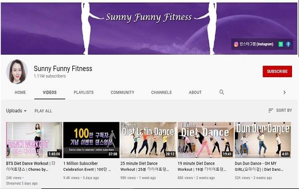 Kanal YouTube Sunny Funny Fitness